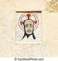 Ancient mosaic icon