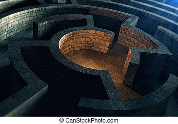 Ancient mystic labyrinth
