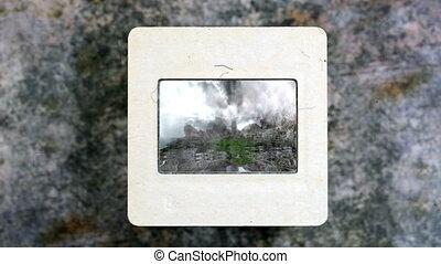 Ancient Observatory Kokino on vintage slide film