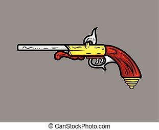 Ancient Old Pistol