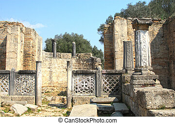 Ancient Olympia the cradle of the olympic games in Greece...