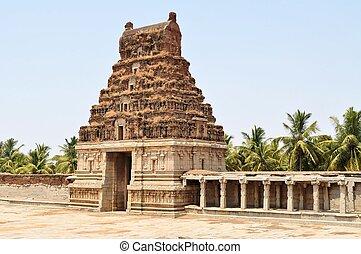 Ancient overgrown ruins of Hampi, Karnataka, India