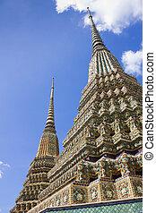 Ancient Pagoda at Wat Pho, Bangkok, Thailand