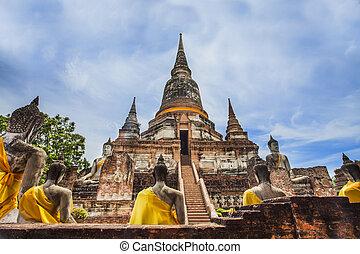Ancient Pagoda in Ayuthaya historical park