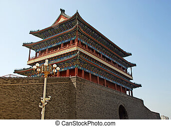 ancient pagoda in Forbidden City(Beijing, China)