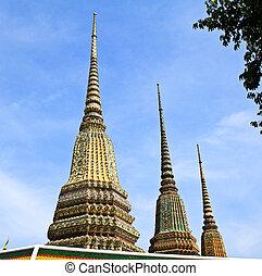 Ancient Pagoda or Chedi at Wat Pho Temple, Thailand