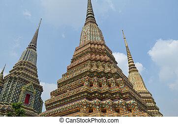 Ancient Pagoda or Chedi at Wat Pho