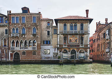 Ancient palaces long the Grand Canal.