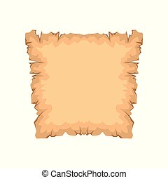 Ancient paper, papyrus with space for text vector Illustration on a white background