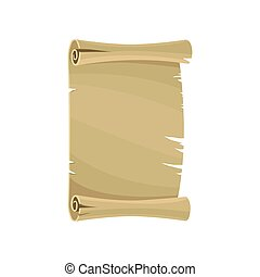 Ancient paper scroll, parchment, manuscript vector Illustration on a white background