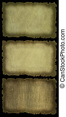 Ancient paper set isolated
