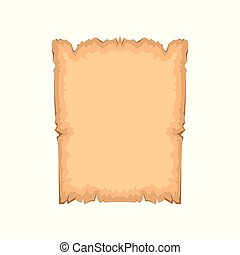 Ancient paper with space for text vector Illustration on a white background