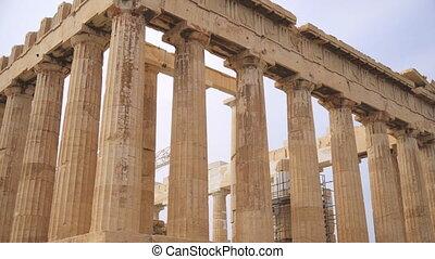 Ancient Parthenon in the Athenian Acropolis.