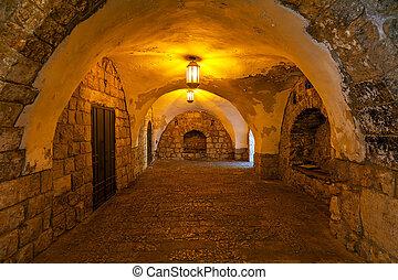 Ancient passage in Jerusalem.