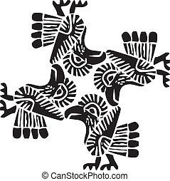 Ancient pattern illustration - Ancient pattern. Vector...
