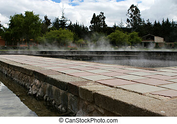 Ancient Peruvian Hot Springs - Old hot springs in the town ...