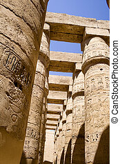 Ancient Pillars - Image of ancient pillars of The Temple of...