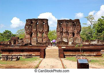 (ancient, polonnaruwa, sri, lanka's, capital), tönkretesz