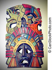 ancient population of Central Mexico - Ancient mask of a...