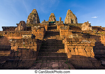 Ancient Pre Rup Temple - Ancient architecture with steep...
