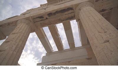 Ancient Propylaea in the Athenian Acropolis.