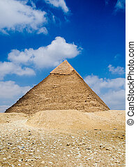 Ancient Pyramid of Giza in Cairo Egypt