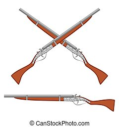 Ancient rifles.