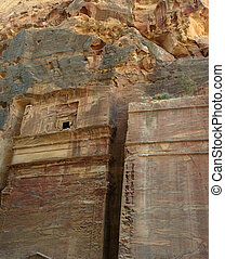 Ancient rock city of Petra in Jordan in the Middle East