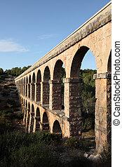Ancient roman aqueduct in Tarragona, Spain