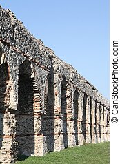 Ancient roman aqueduct of the Gier in Chaponost near Lyon, France