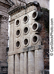 Ancient Roman Baker tomb in Rome