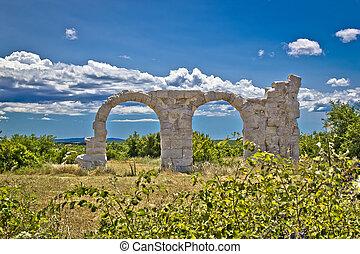 Ancient Roman Burnum archaeological site