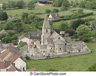 Ancient roman church in France