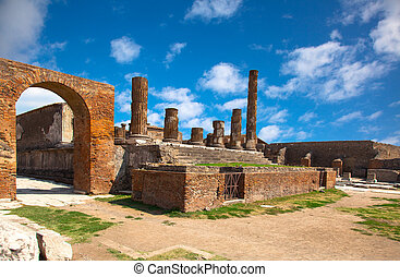 ancient Roman city of Pompeii, which was destroyed and ...