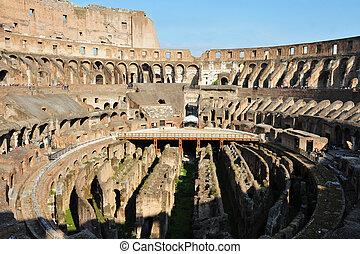Ancient roman colosseum in Rome, It