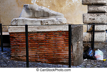 ancient Roman Foot Statue In Rome