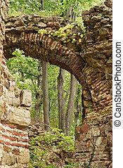 Ancient roman fortress arch riun