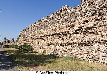 Fortress Wall - Ancient Roman Fortress Wall in Hissarya, ...