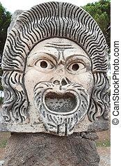 ancient Roman mask