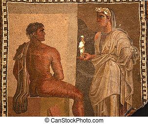 Ancient Roman Mosaic Baths Capitoline Museum Rome Italy - ...
