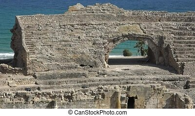Ancient Roman Ruins And Amphitheater