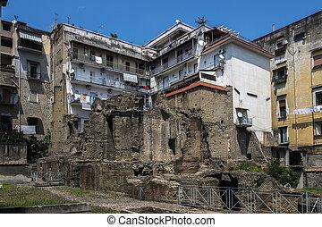 Ancient Roman ruins in the Naples neighborhood