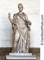 Ancient Roman sculpture of a Vestal Virgin