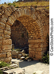 Ancient Roman stone arch