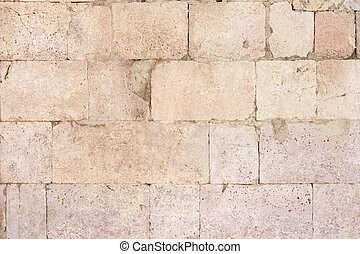 Ancient roman stone wall background - Ancient roman stone...