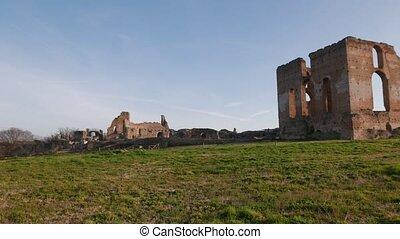 ancient Roman villa in Rome, Italy - ancient Roman Villa...