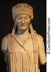 Ancient Roman Woman Statue Capitoline Museum Rome Italy - ...