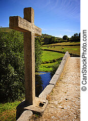 Ancient Romanic Bridge - Portuguese countryside landscape ...
