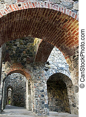 Ancient ruin with arches