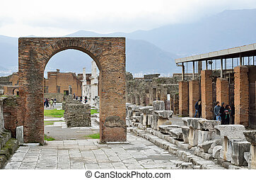 Ancient ruined city Pompeii - Pompeii has been a popular...